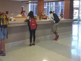 Students and faculty remained inside while the lockdown was underway.