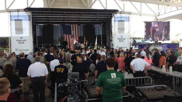 A commemoration event for the 10th anniversary of Hurricane Katrina was held in Gulfport to honor first responders.