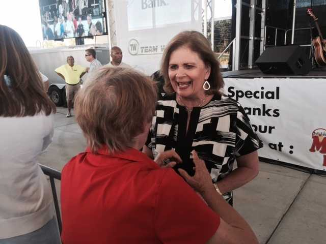 Former First Lady Marsha Barbour was there, as well.