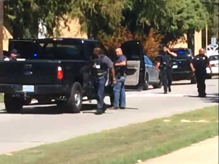 SWAT teams were called in to search campus buildings for the shooter.