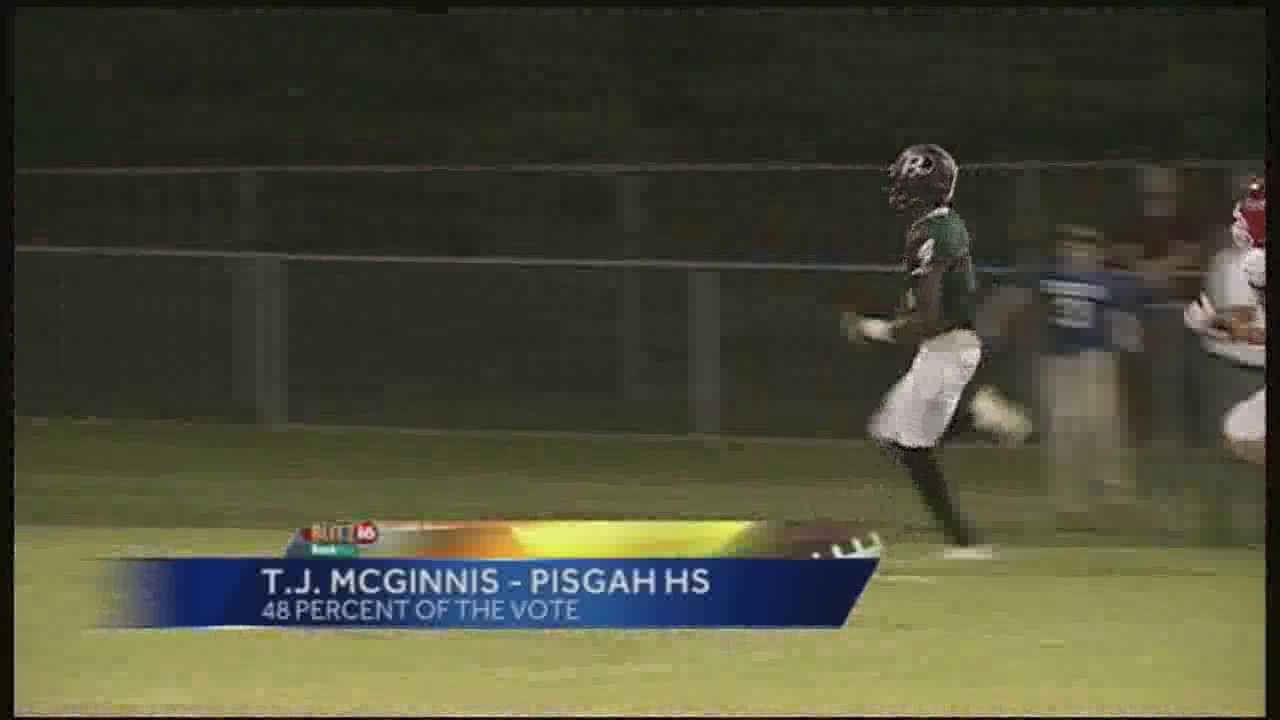 Pisgah's T.J. McGinnish received 3,033 votes this and earned the Blitz 16 BankPlus player of the week.  The senior athlete compiled 213 yards of offense and 3 touchdowns in the Dragons win over Heritage Academy.