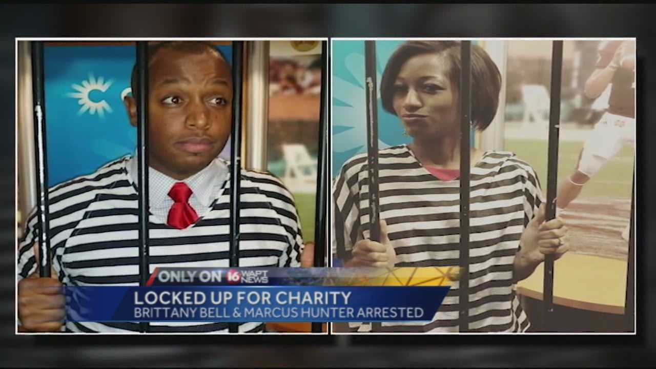 "Marcus Hunter and Brittany Bell went to ""jail"" to raise money for the MDA. 16 WAPT's Allie Ware reports."