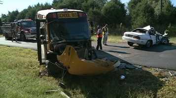 The crash happened Wednesday morning on Raymond-Bolton Road.