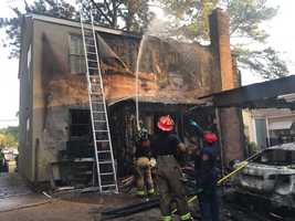Three roommates escaped a fire Thursday at their Belhaven home.