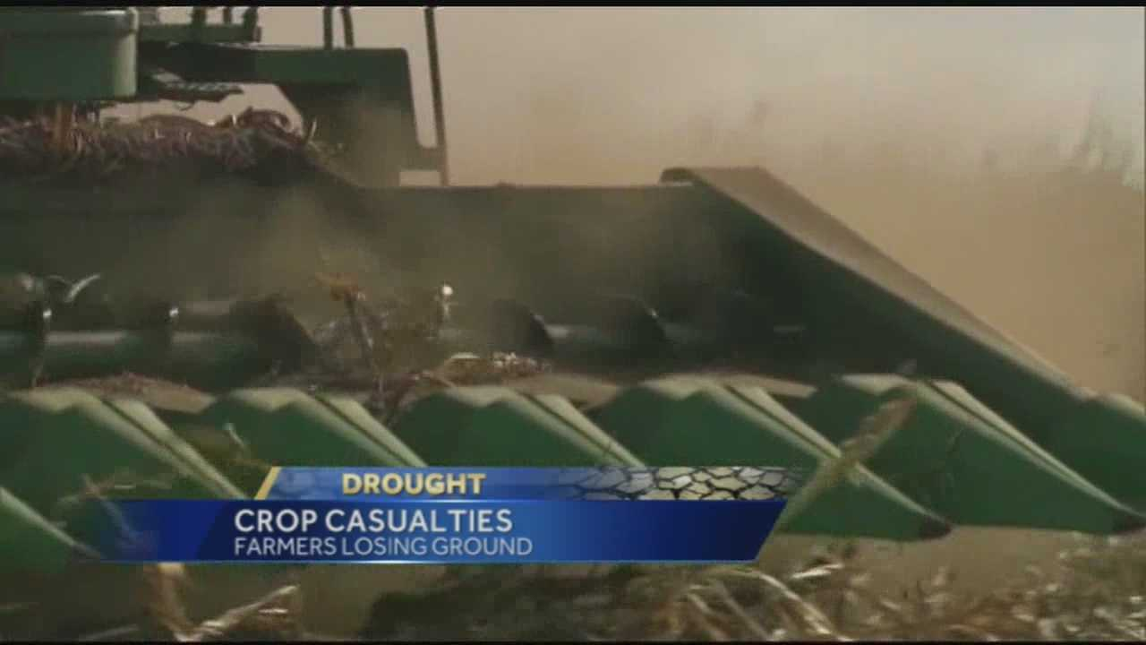 Farmers at the State Fair say this drought is making it hard for them to keep products in stock.