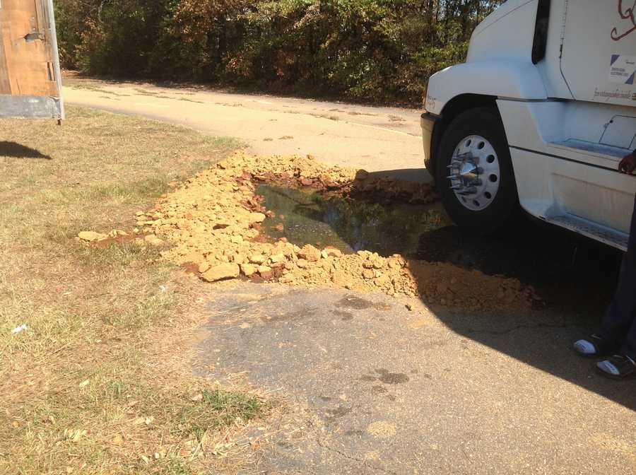 More than 100 gallons of diesel fuel spilled, but most was contained. The rest was cleaned up.