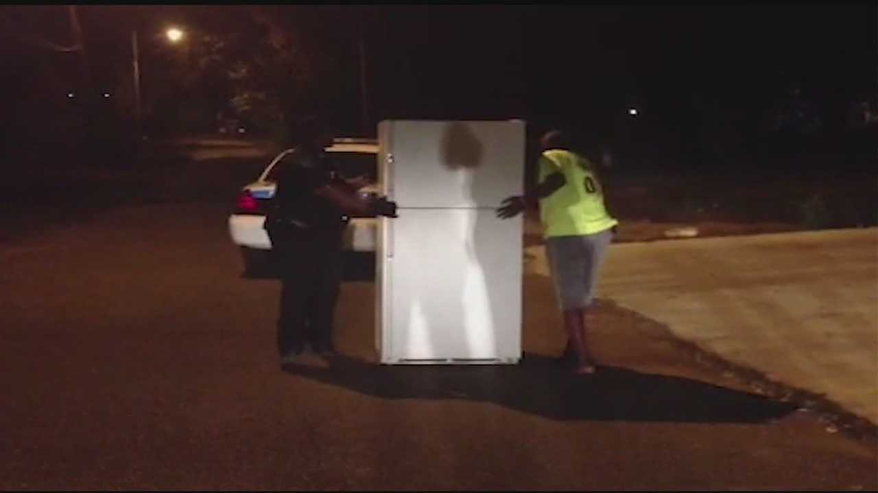 A man recovered his refrigerator after someone stole it out of a house he was renovating.