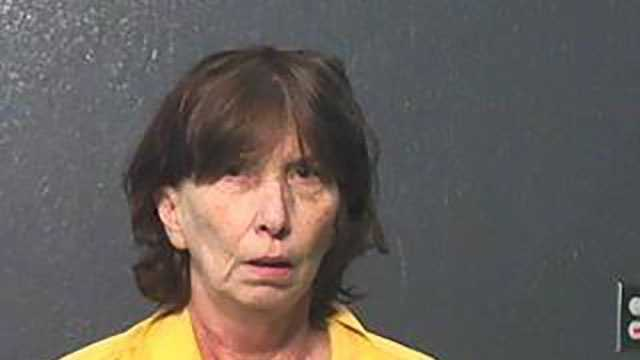 Pamela Ruth Salter, 55, is charged with aggravated domestic violence, according to Jackson County jail records.