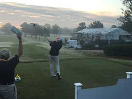 Round One of the Sanderson Farms Championship teed off Thursday at the Country Club of Jackson.
