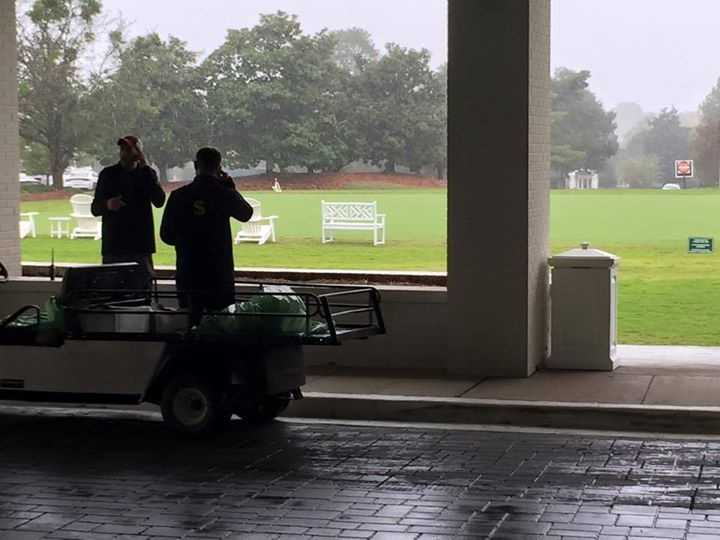 Sanderson Farms Championship play was on hold Friday because of rain.