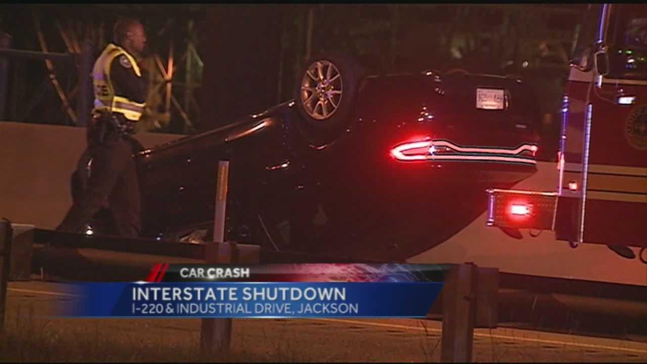 New tonight, an 18-wheeler wreck shut down part of I220.