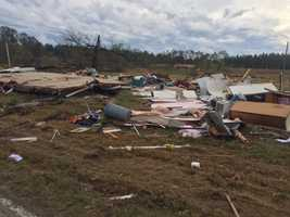 Some of the most serious storm damage was reported in Scott County.