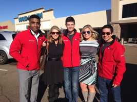 16 WAPT's Ryan Houston, Megan West, Adam McWilliams, Allie Ware and Richard Ochoa were collecting turkeys for the annual Turkey Drive 16 event.