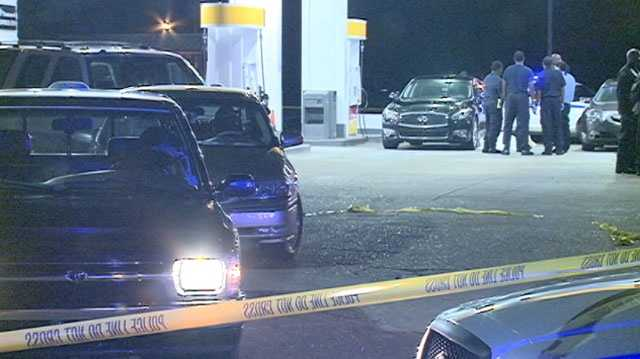 A man walked up to a woman near the gas pumps at the Shell gas station on Watkins Drive and shot her in the head, killing her, Jackson police said.