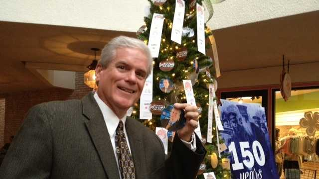 Highland Village Angel Tree has now been named the David Hartman Angel Tree to honor David's 30 years of broadcasting.