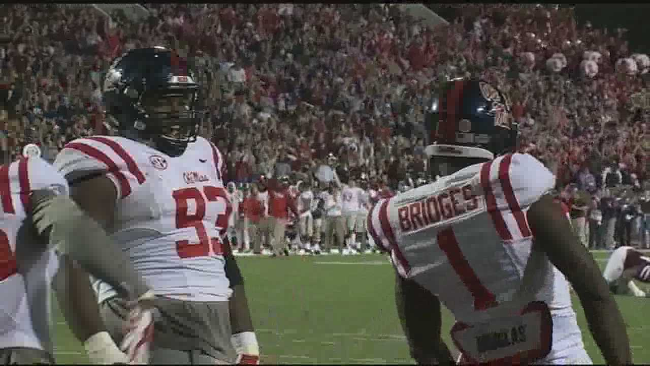 The Ole Miss Rebels defeated Mississippi State 38-27.  It is Ole Miss' first win in Starkville since 2003.