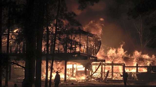 A fire destroys the Dixie Springs Cafe in Summit.