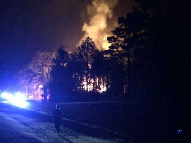 Several fire departments were called to help put out the blaze.