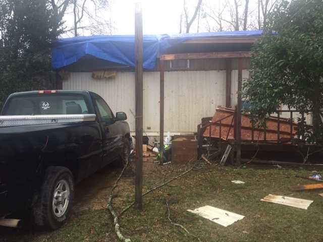 Severe weather rips through Covington County, tearing the roof off a home.