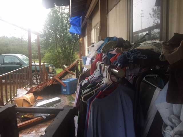 A National Weather Service crew was set to survey the damage in Covington County.