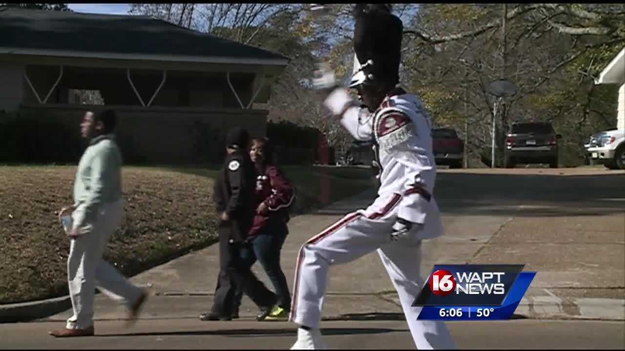 The annual Martin Luther King Jr. birthday celebration parade rolled through Jackson today.