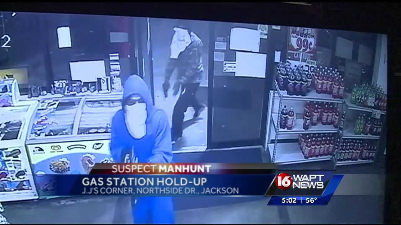 A gas station store was robbed by two armed masked men Wednesday morning. 16 WAPT's Hadas Brown reports.