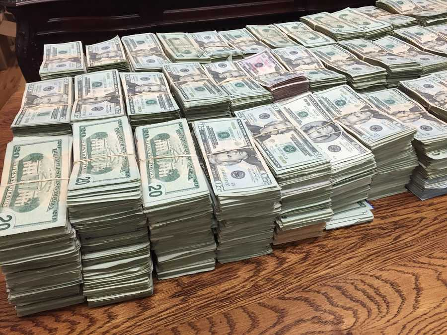 The cash was found hidden in four doors of a rental car, Mason says.