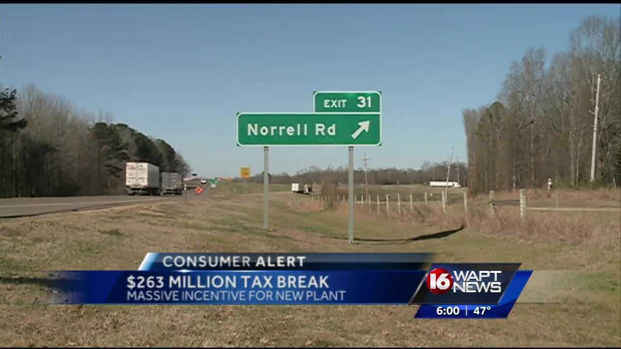 Legislators approve a huge tax break for a new company coming to Hinds County, 16 WAPT's Ross Adams reports.