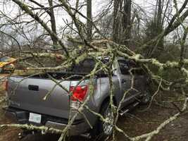 Power lines were down and widespread damage was reported in Wesson.