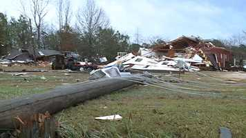 Sylvarena residents clean up after a tornado cuts through Smith County.