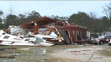 Damage was reported in 19 Mississippi counties as a result of the Feb. 16 storm.