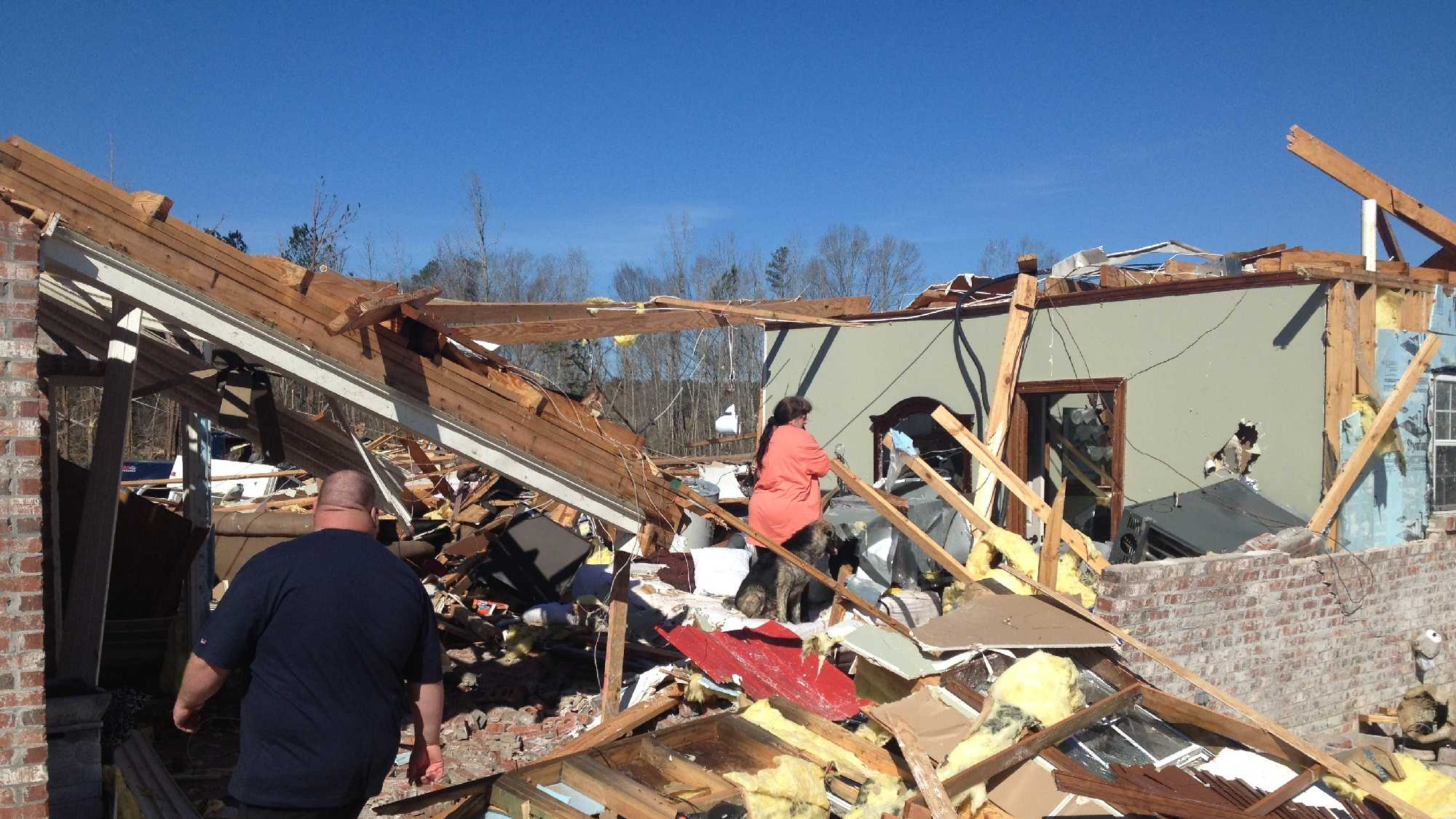 The town fire chief's home was destroyed by the tornado.