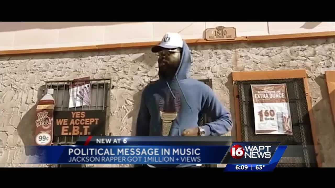 A Jackson rapper is getting national attention with a song that has some political lyrics. 16 WAPT's Marcus Hunter talks to the artist.