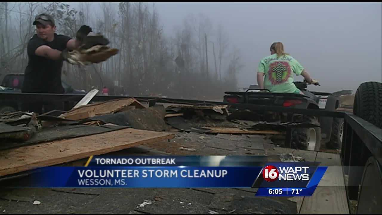 A volunteer firefighter in Copiah County is getting a lot of help after losing his family home to a tornado earlier this week.