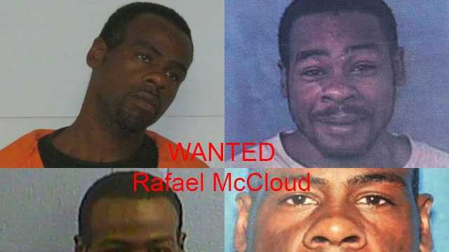 Rafael McCloud in four different mug shots.