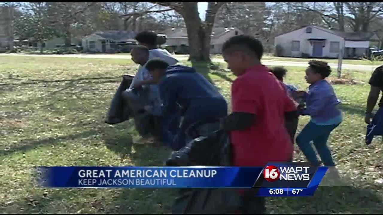Volunteers helped tidy up a part of Jackson to celebrate the Americorp and its members.