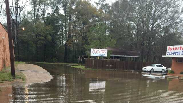 16 WAPT viewer William Pratt took this picture of flooding on Cherry Street in Tylertown.