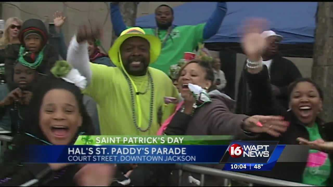People took to the streets in downtown Jackson for Hal's Saint Paddy's Day Parade.