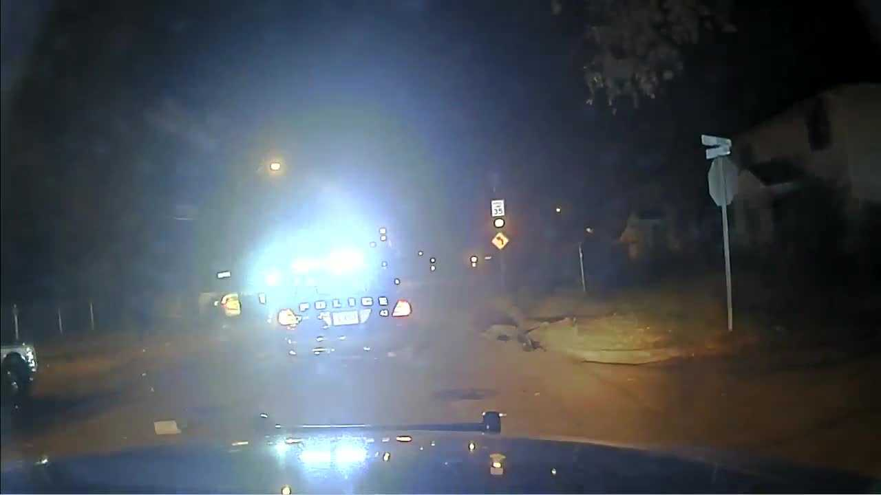 Clinton police release dash cam video of a chase that ends with a shoplifting suspect crashing into a car, killing a Jackson man. This is a portion of the 15 minute video.