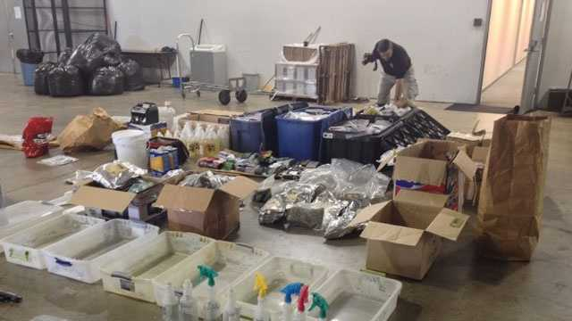 Evidence in an MBN spice bust in 2015.