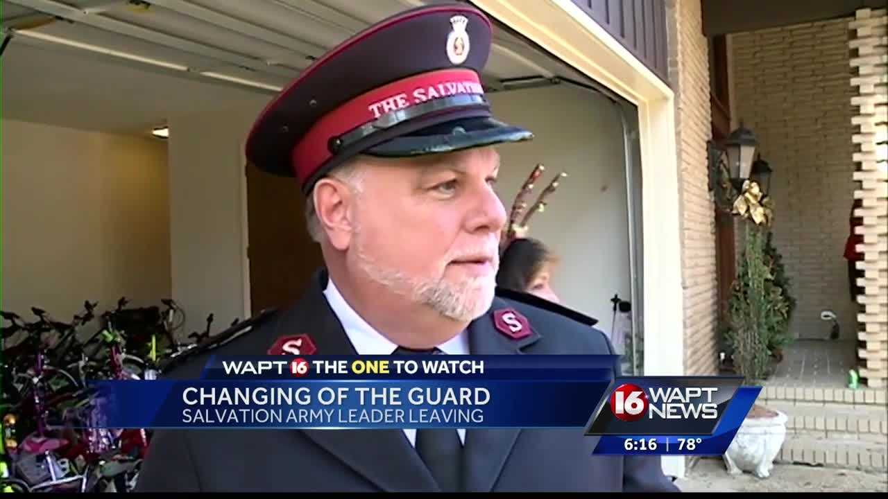 The Salvation Army leader is getting ready to move to Oklahoma for his new position.