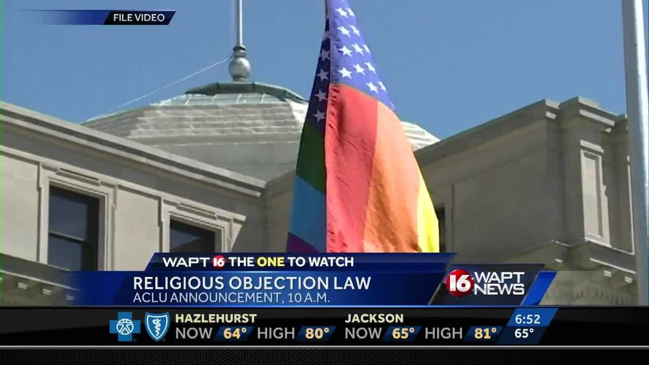 The ACLU is expected to make an announcement regarding the state's new Religious Objection law.