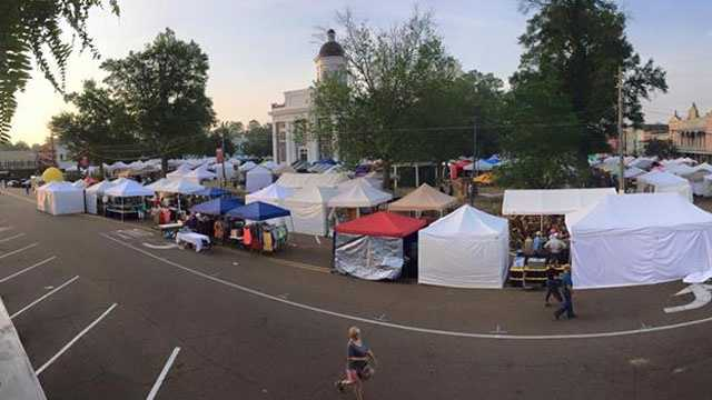 The bi-annual Canton Flea Market kicked off Friday morning.