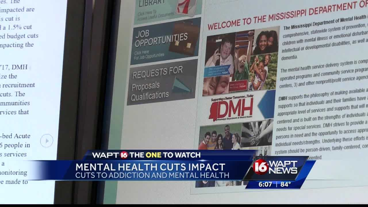Mental health officials voice their concerns of the deep cuts that they are facing. 16 WAPT's Allie Ware reports.