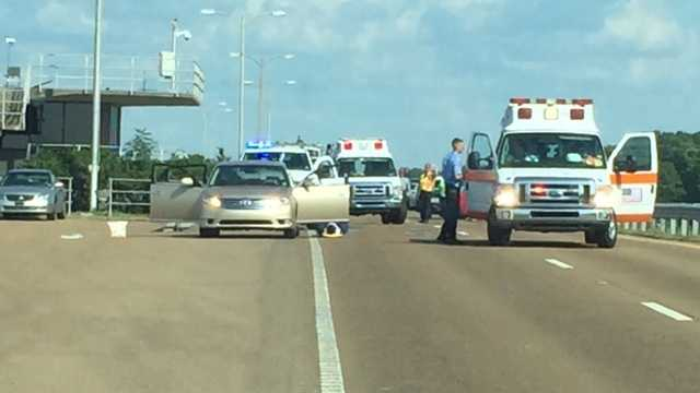 Six people were injured in a multi-vehicle crash Sunday afternoon on the Reservoir Spillway.