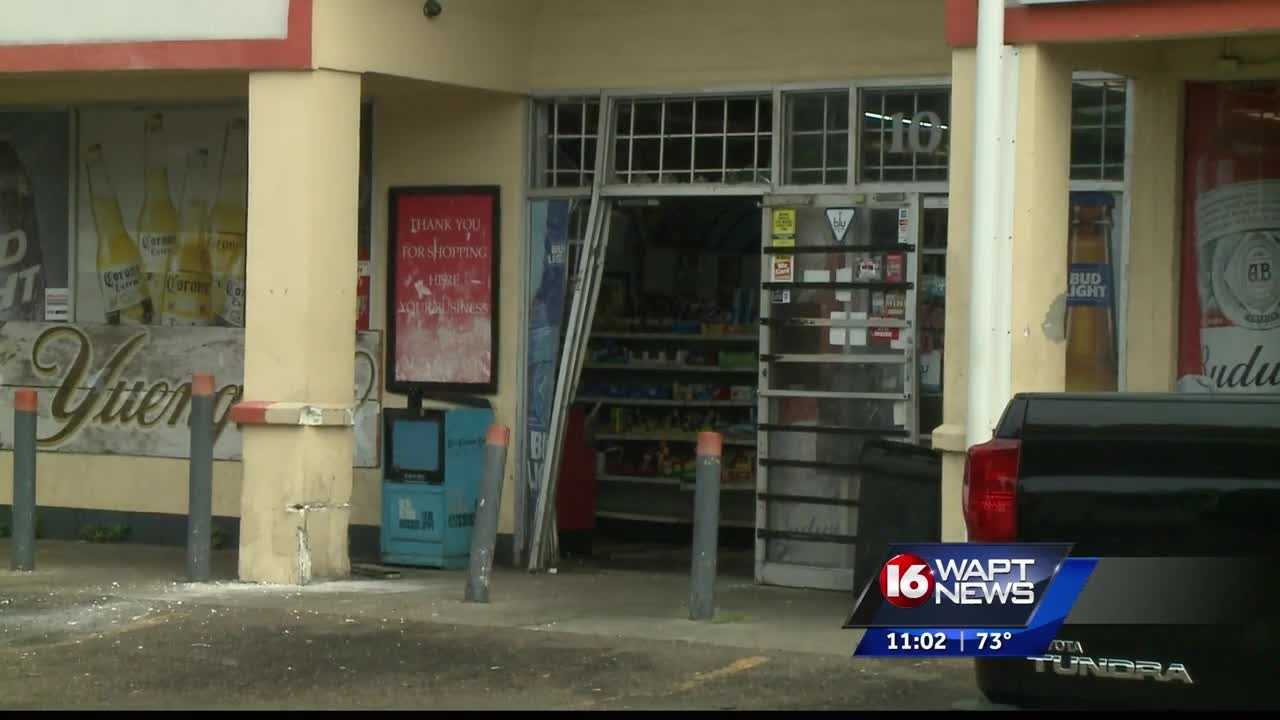 Masked crooks tried to take off with an ATM from a Jackson convenience store.