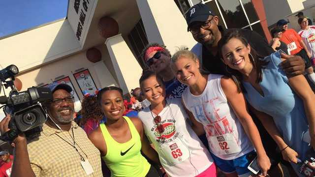 16 WAPT's Brittany Bell, Keegan Foxx, Allie Ware and Kim Oxley ran in the 2016 Watermelon Classic. Photojournalist James Foster, reporter Anne Parker and news director Ben Hart were there to cheer them on.