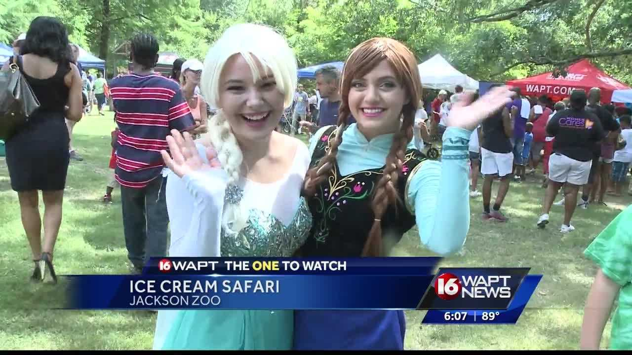 Crowds of people showed up to the Jackson Zoo for the 22nd annual Ice Cream Safari.