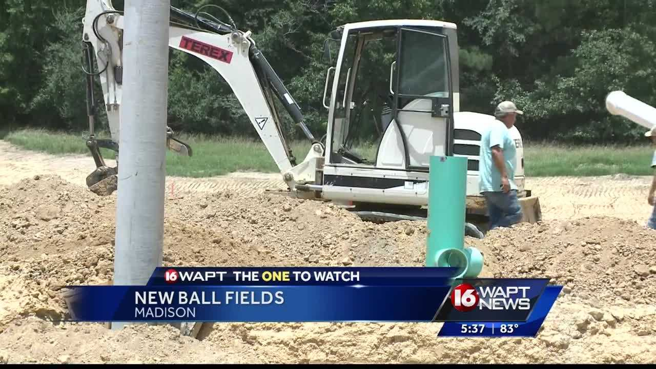 Construction has started on new ball fields in Madison.
