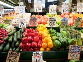 Visit the Mississippi Farmers Market on High Street in downtown Jackson.